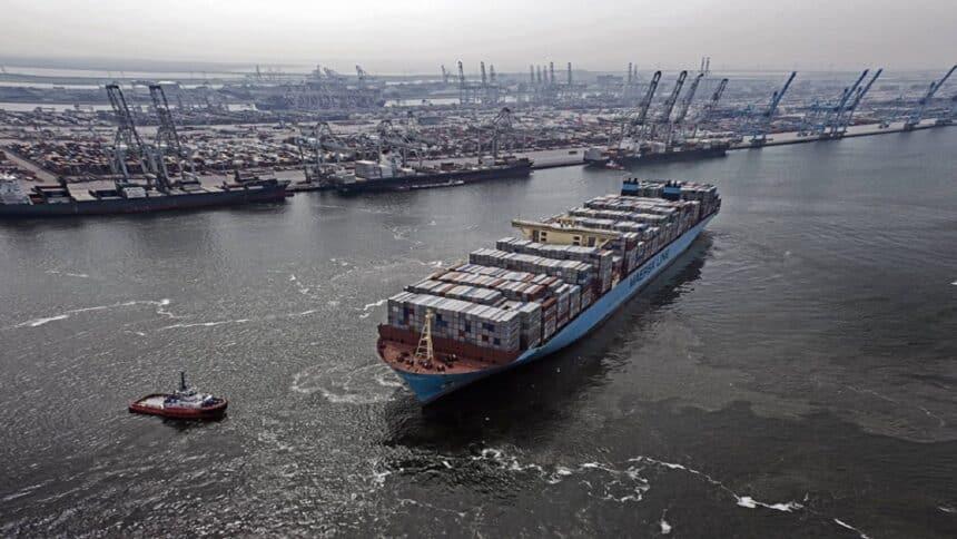 Maersk - Hiunday - carbono - navio - Porta-contêiner