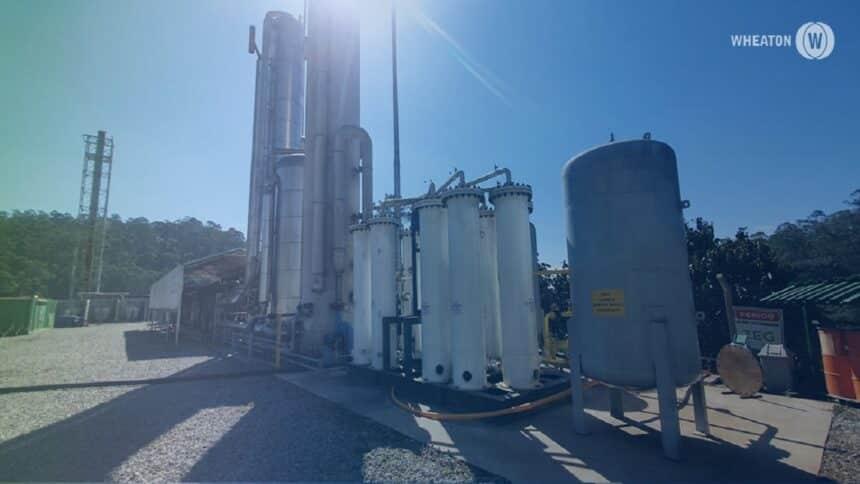 Wheaton - vbiometano - gás natural - vidro -