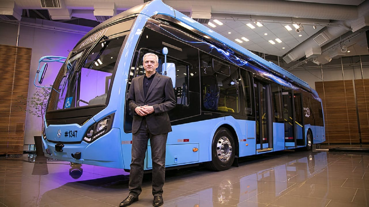 investimento - Mercedes-Benz - Ônibus elétrico