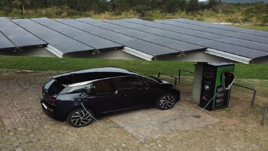 BMW - carros elétricos - energia solar