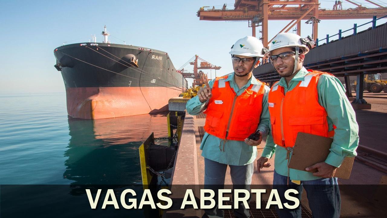 emprego - Vale - mineração - home office - mineradora - ferro - rj - mg - sp - pe - sem experiência