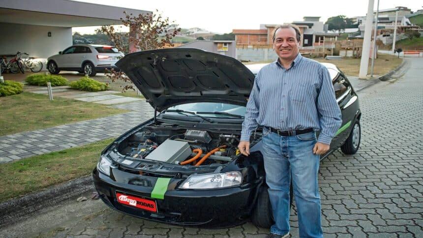 Engenheiro - Chevrolet-Celta-2005 - veiculo elétrico