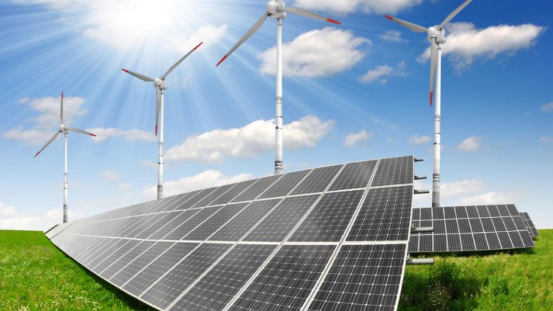 Energia renovável – solar – eólica