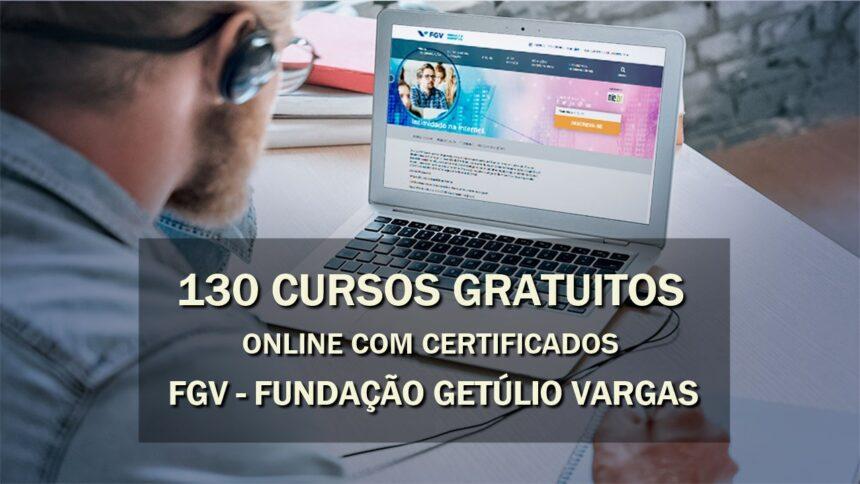 cursos online gratuitos com certificado - fgv - Fundação Getúlio Vargas - cursos - vagas