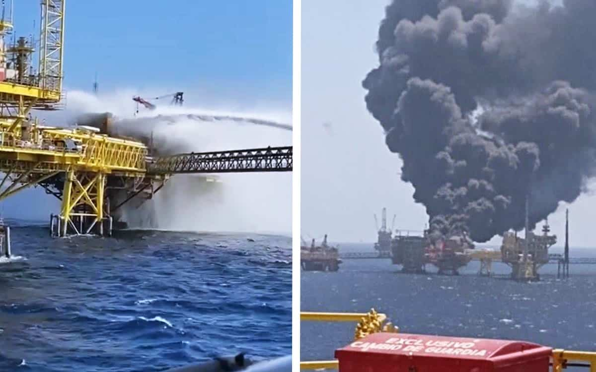 pemex - acidente - incidente - plataforma de petróleo - morte - gasoduto - incêndio - explosão