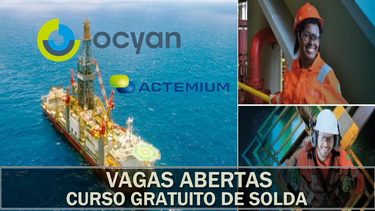 curso gratuito de solda - vagas - macaé - firjan - ocyan - actemium