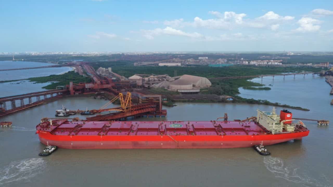 São Luís - navio mineraleiro - navio - Vale - mineradora