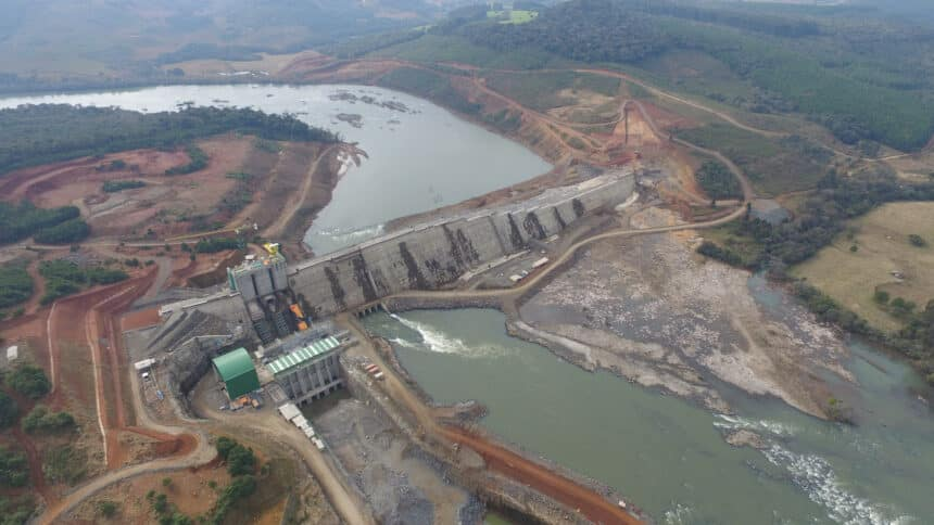 Usina – obras – Santa Catarina – energia