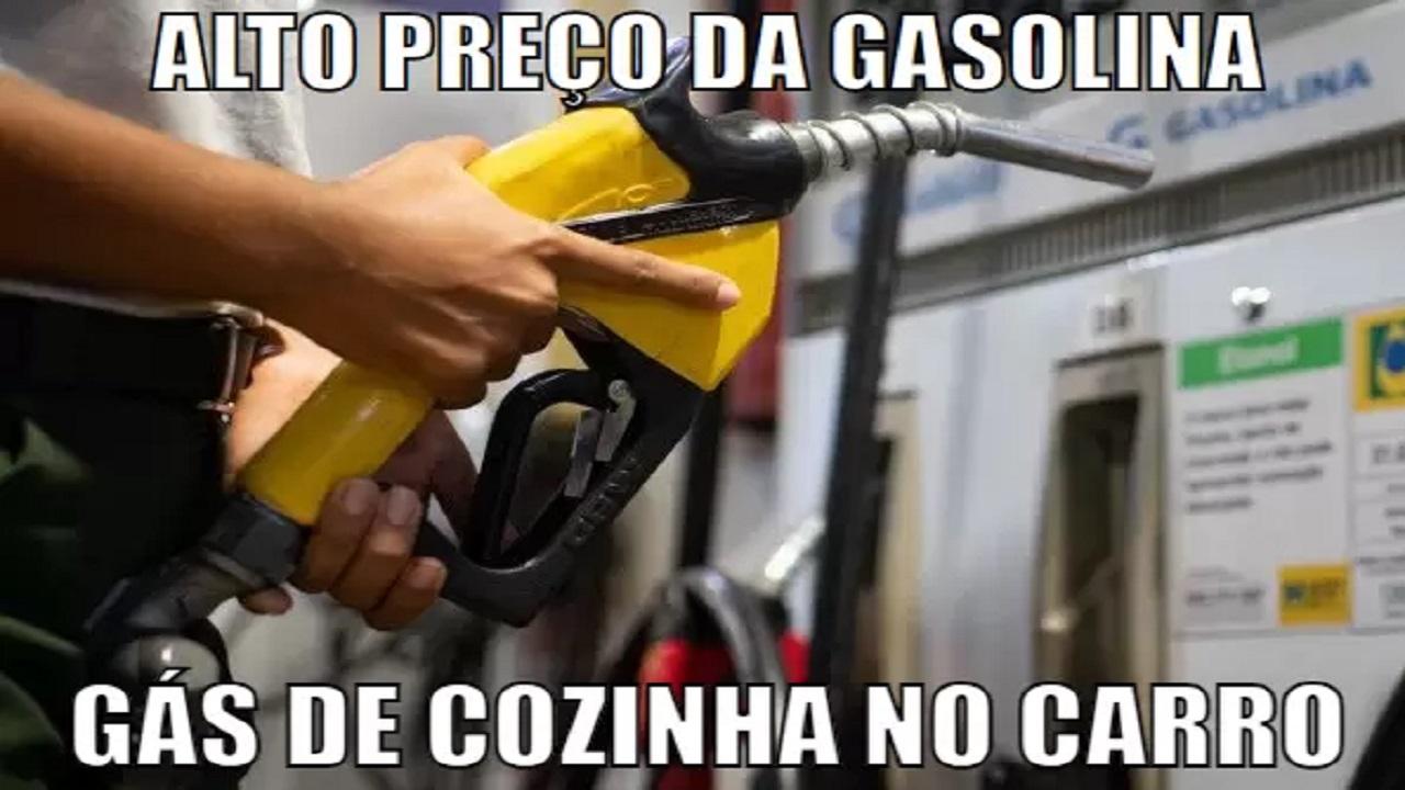 gasolina - gás de cozinha - veículos