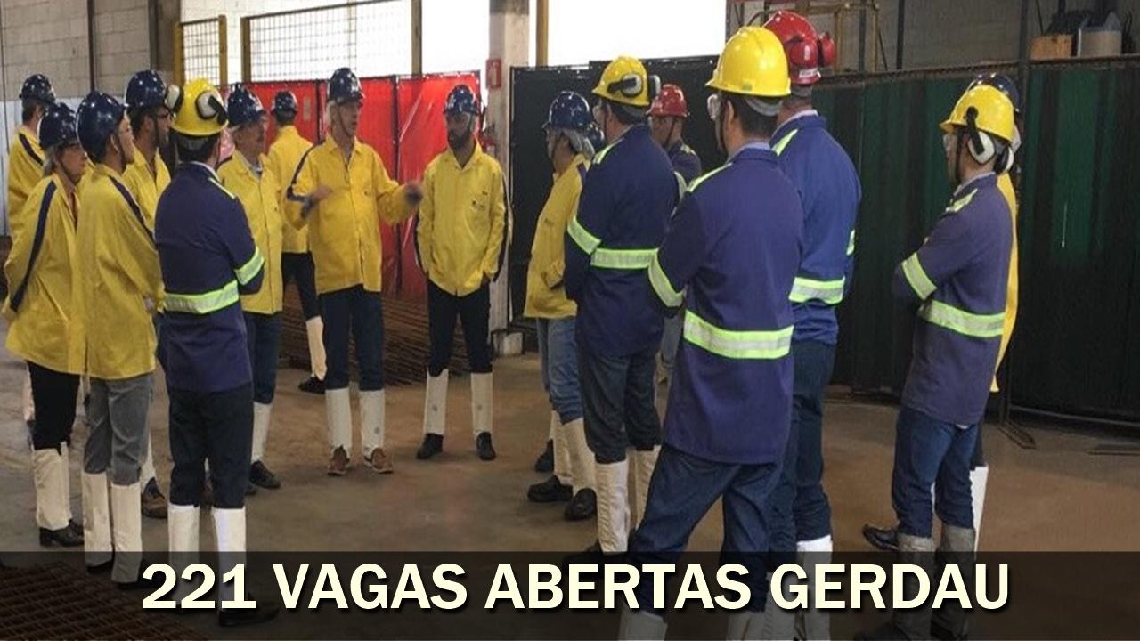 gerdau - aço - preço - emprego - vagas - rio de janeiro - usina - são paulo - bahia