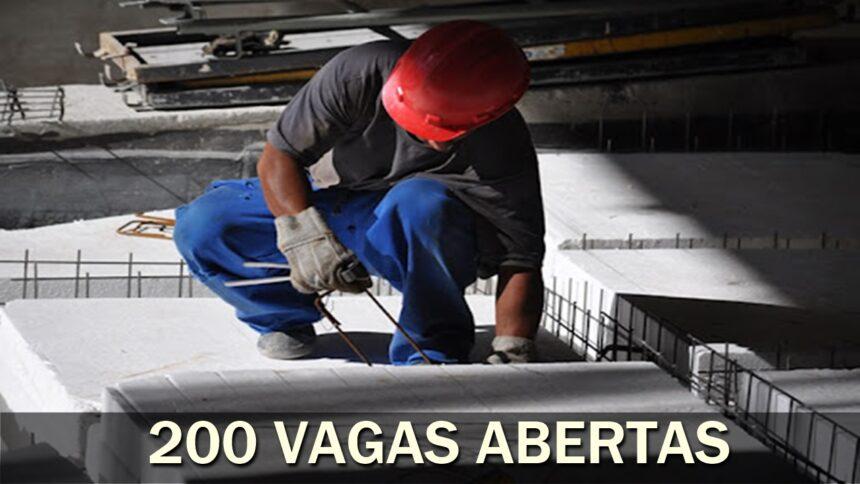 emprego - vagas - mg - ensino fundamental - técnico - ajudante - motorista - operador - EPS - isopor - construção civil - indústria
