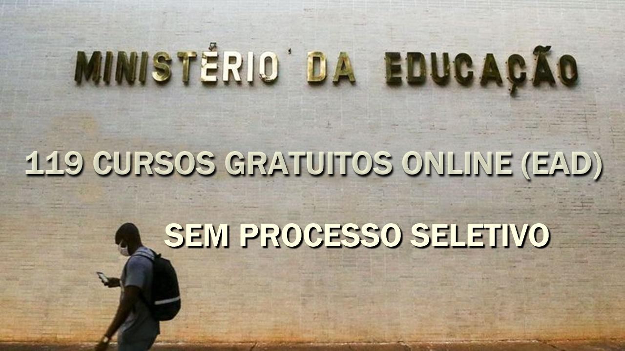 EAD - MEC - ministério da educação - cursos online - cursos gratuitos - qualificação profissional - cursos com certificados - cursos gratuitos com certificado