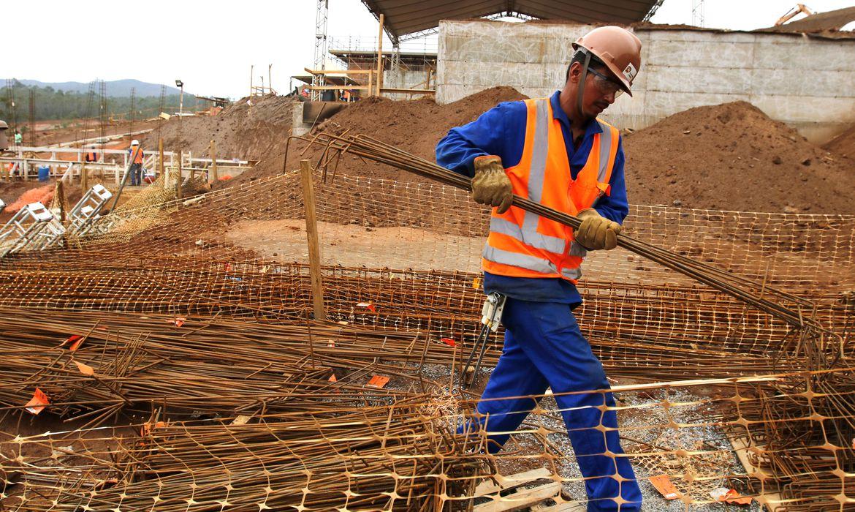Construção civil - empregos - trabalhadores