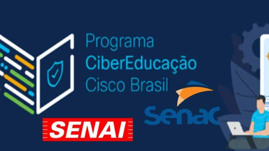 SENAC - SENAI - CISCO - cursos gratuitos - ead - qualificação profisisonal