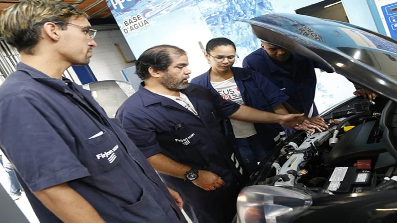 Firjan Senai - Senai - RJ - cursos gratuitos - vagas - Construcao-Civil-Automotiva-Eletricidade-e-Refrigeração