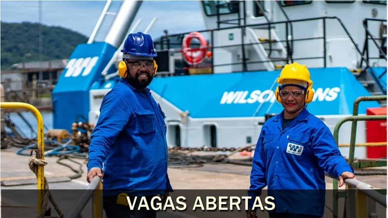 Vagas de emprego, offshore, Wilson Sons
