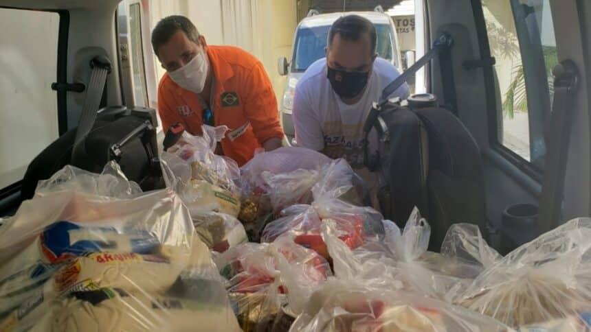 petrobras - macaé - rio de janeiro - doação de cestas básicas
