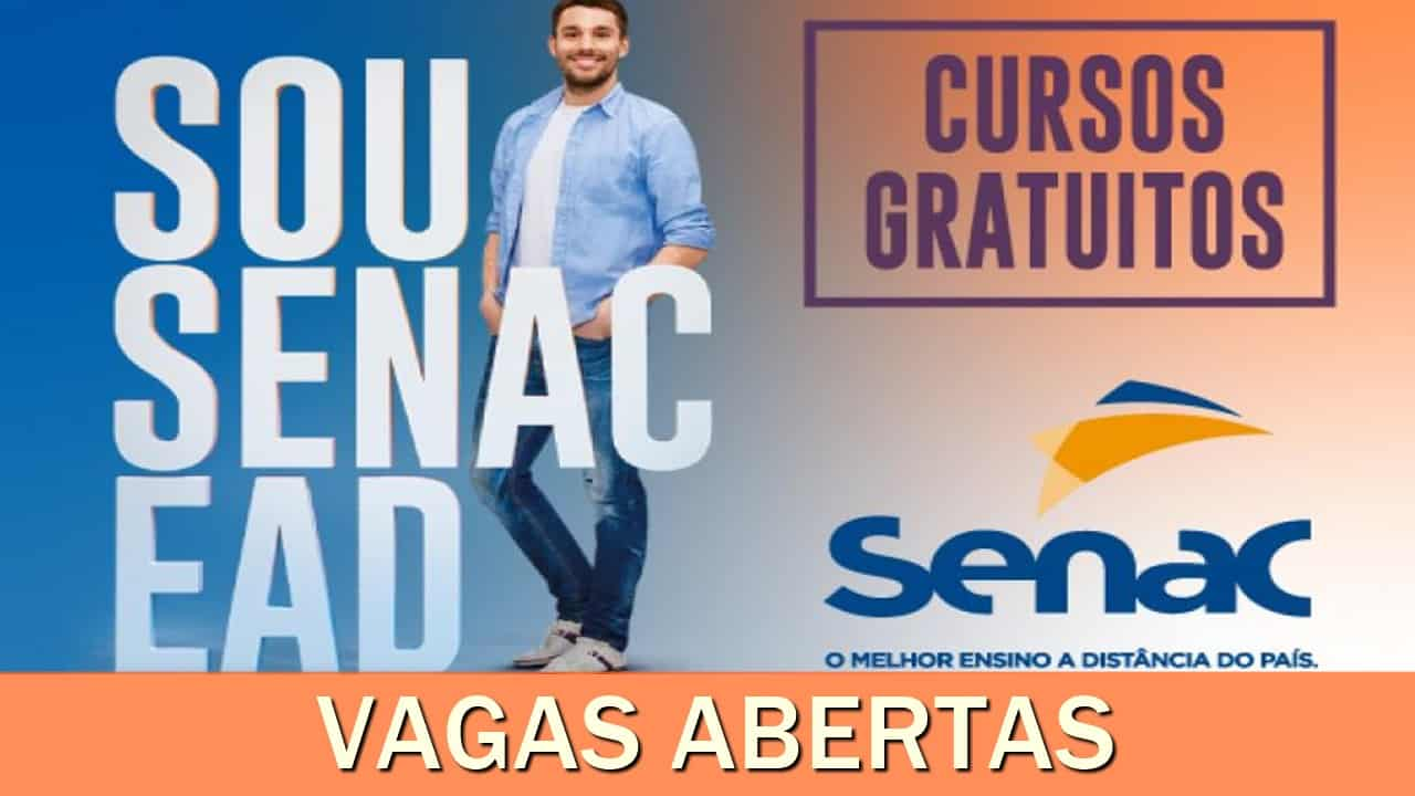 senanc - cursos gratuitos - cursos online - cursos ead - qualificação profissional - vagas