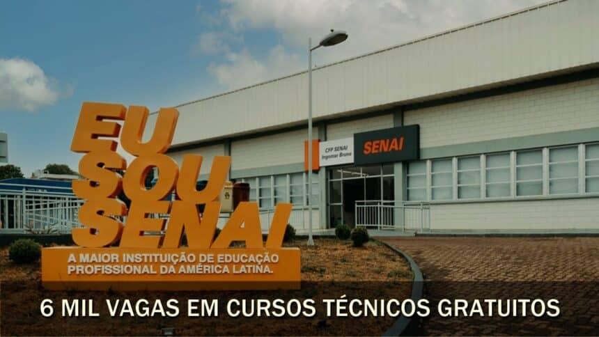 cursos técnicos - SENAI - técnicos - cursos gratuitos - vagas - mg